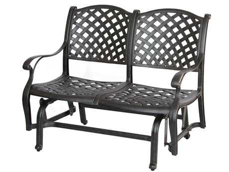 Darlee Outdoor Living Standard Nassau Cast Aluminum Antique Bronze Glider Bench
