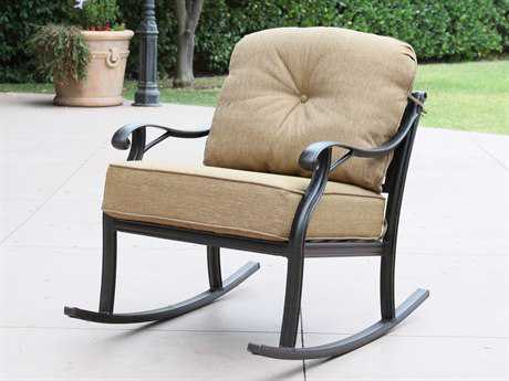 Darlee Outdoor Living Standard Nassau Cast Aluminum Antique Bronze Rocker Club Chair
