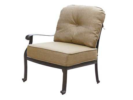 Darlee Outdoor Living Elisabeth Cast Aluminum Antique Bronze Sectional Left-Facing Arm Chair