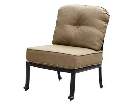 Darlee Outdoor Living Standard Elisabeth Cast Aluminum Antique Bronze Sectional Center Chair