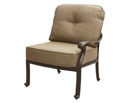 Darlee Outdoor Living Elisabeth Cast Aluminum Antique Bronze Sectional Right-Facing Arm Chair