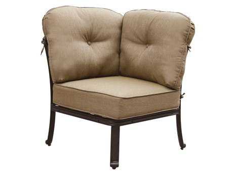 Darlee Outdoor Living Standard Elisabeth Cast Aluminum Antique Bronze Sectional Corner Chair
