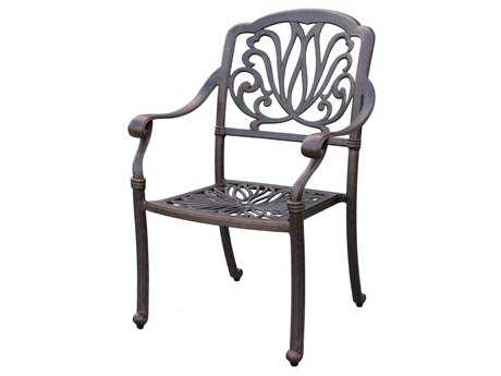 Darlee Outdoor Living Standard Elisabeth Cast Aluminum Antique Bronze Dining Chair