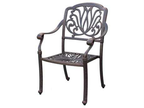 Darlee Outdoor Living Standard Elisabeth Replacement Dining Chair Seat Cushion PatioLiving