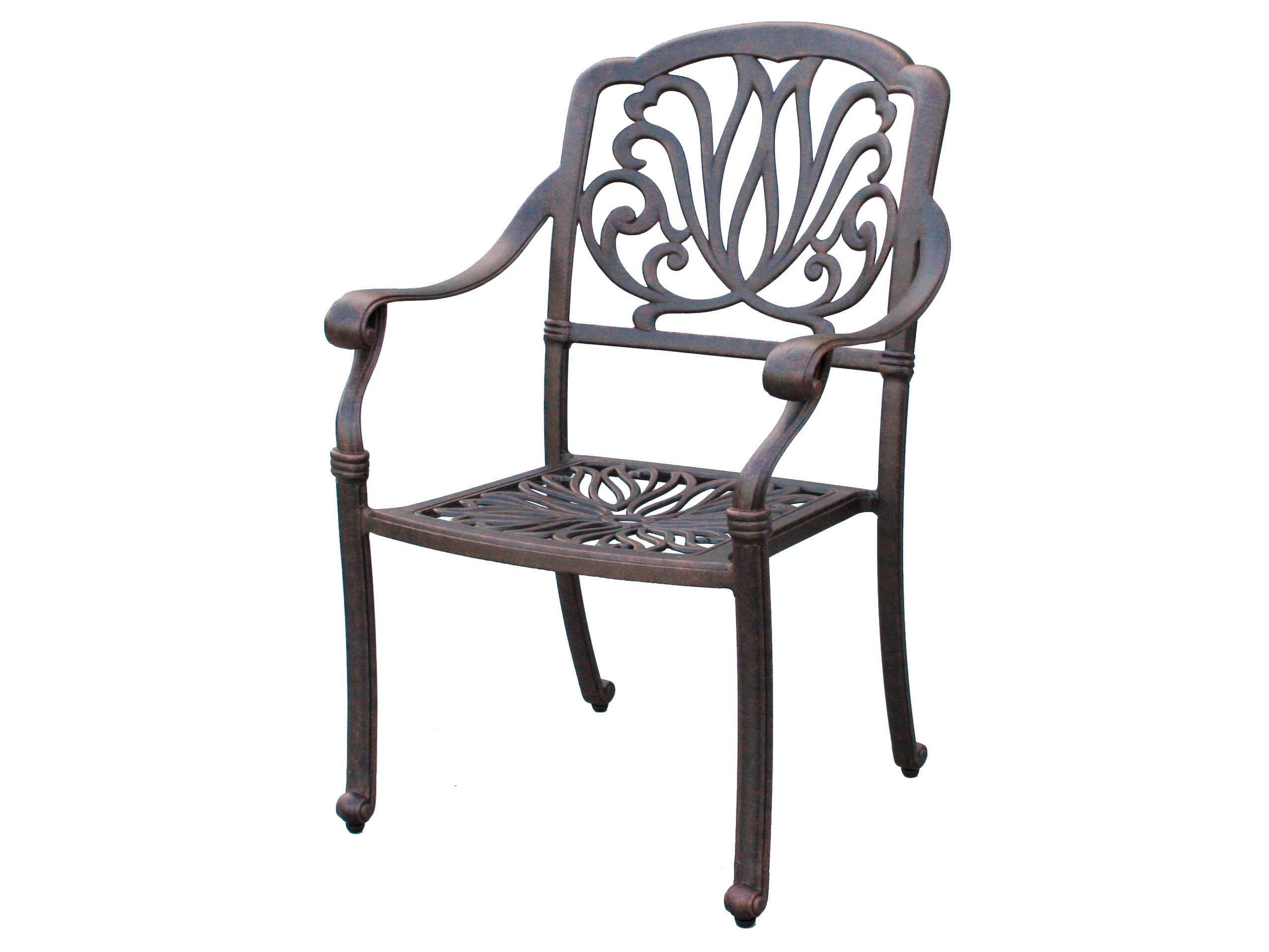 Darlee Outdoor Living Standard Elisabeth Cast Aluminum Antique Bronze Dining
