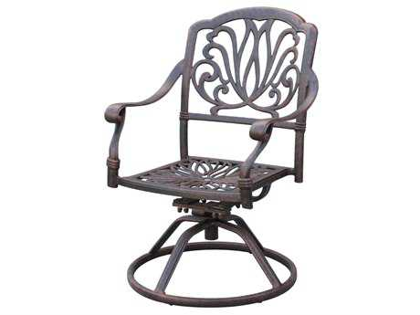Darlee Outdoor Living Standard Elisabeth Cast Aluminum Antique Bronze Swivel Rocker Chair PatioLiving