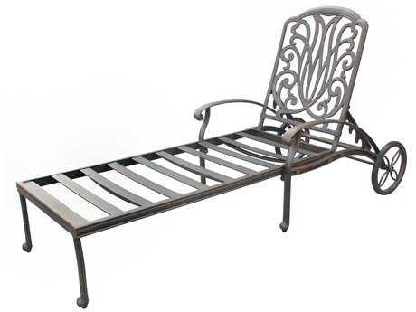 Darlee Outdoor Living Elisabeth Cast Aluminum Antique Bronze Chaise Lounge