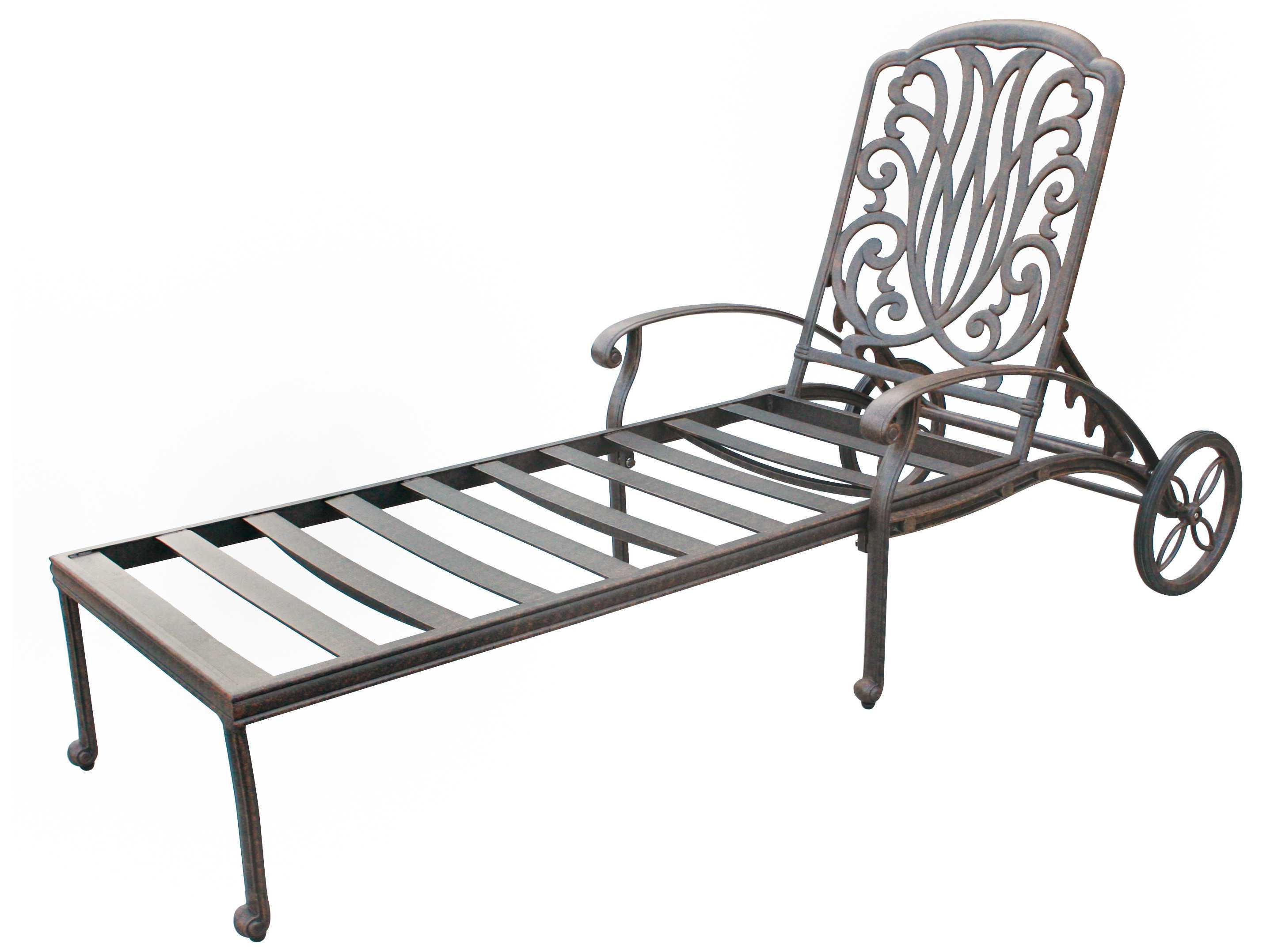 Darlee outdoor living standard elisabeth cast aluminum for Bronze chaise lounge