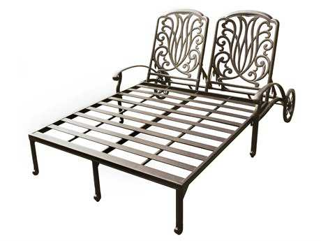 Darlee Outdoor Living Elisabeth Cast Aluminum Antique Bronze Double Chaise Lounge