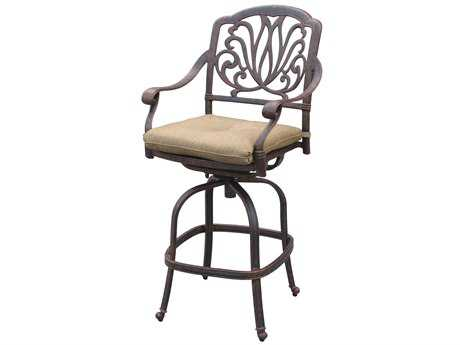 Darlee Outdoor Living Elisabeth Cast Aluminum Antique Bronze Swivel Bar Stool