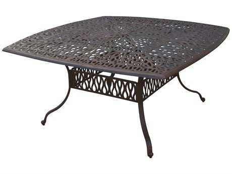 Darlee Outdoor Living Elisabeth Cast Aluminum Antique Bronze 64 Square Dining Table PatioLiving