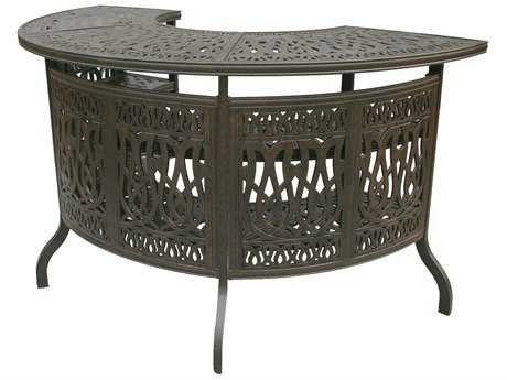 Darlee Outdoor Living Standard Elisabeth Cast Aluminum Antique Bronze 75 x 38.5 Party Bar