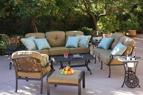 Darlee Outdoor Living Standard Elisabeth Cast Aluminum Antique Bronze Lounge Set