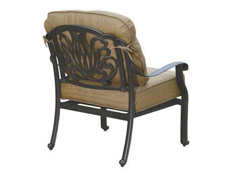 Darlee Outdoor Living Quick Ship Elisabeth Cast Aluminum Antique Bronze Club Chair