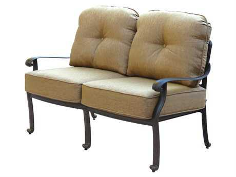 Darlee Outdoor Living Standard Elisabeth Replacement Loveseat Seat and Back Cushion PatioLiving