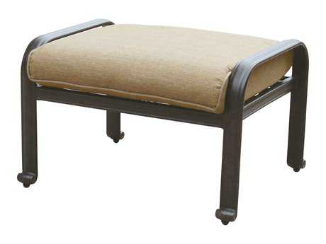 Darlee Outdoor Living Standard Elisabeth Cast Aluminum Antique Bronze Ottoman PatioLiving