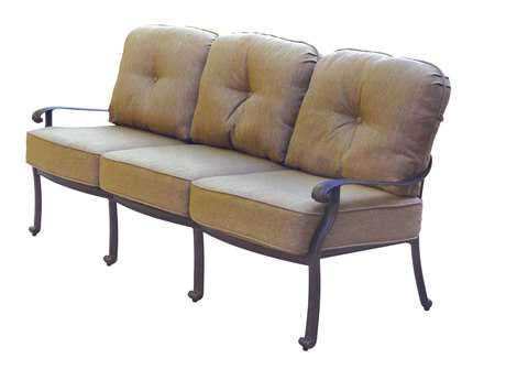 Darlee Outdoor Living Standard Elisabeth Cast Aluminum Antique Bronze Sofa DADL7089