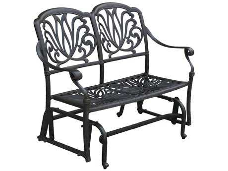 Darlee Outdoor Living Standard Elisabeth Cast Aluminum Antique Bronze Glider Bench