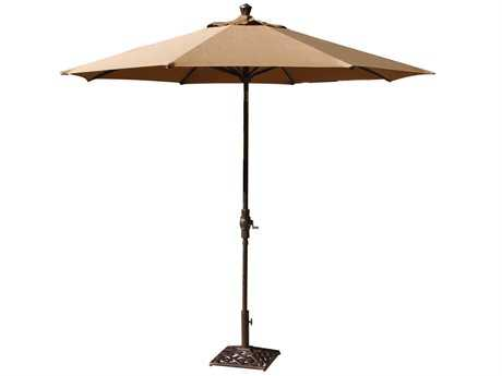 Darlee Outdoor Living Standard Umbrellas Cast Aluminum Antique Bronze 9' Auto Tilt Umbrella PatioLiving