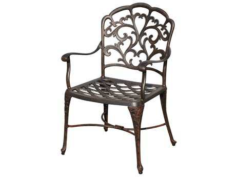 Darlee Outdoor Living Quick Ship Catalina Cast Aluminum Antique Bronze Dining Arm Chair