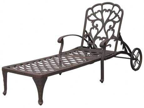 Darlee outdoor living catalina cast aluminum antique for Bronze chaise lounge