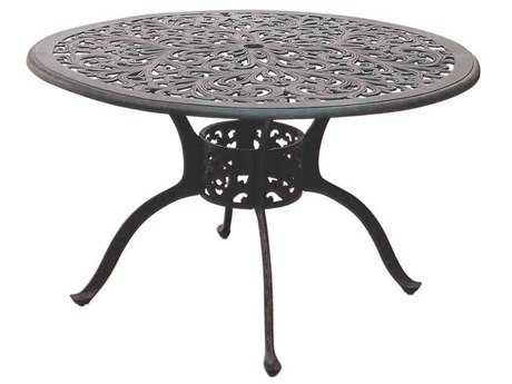 Darlee Outdoor Living Series 80 Cast Aluminum Antique Bronze 48 Round Dining Table PatioLiving
