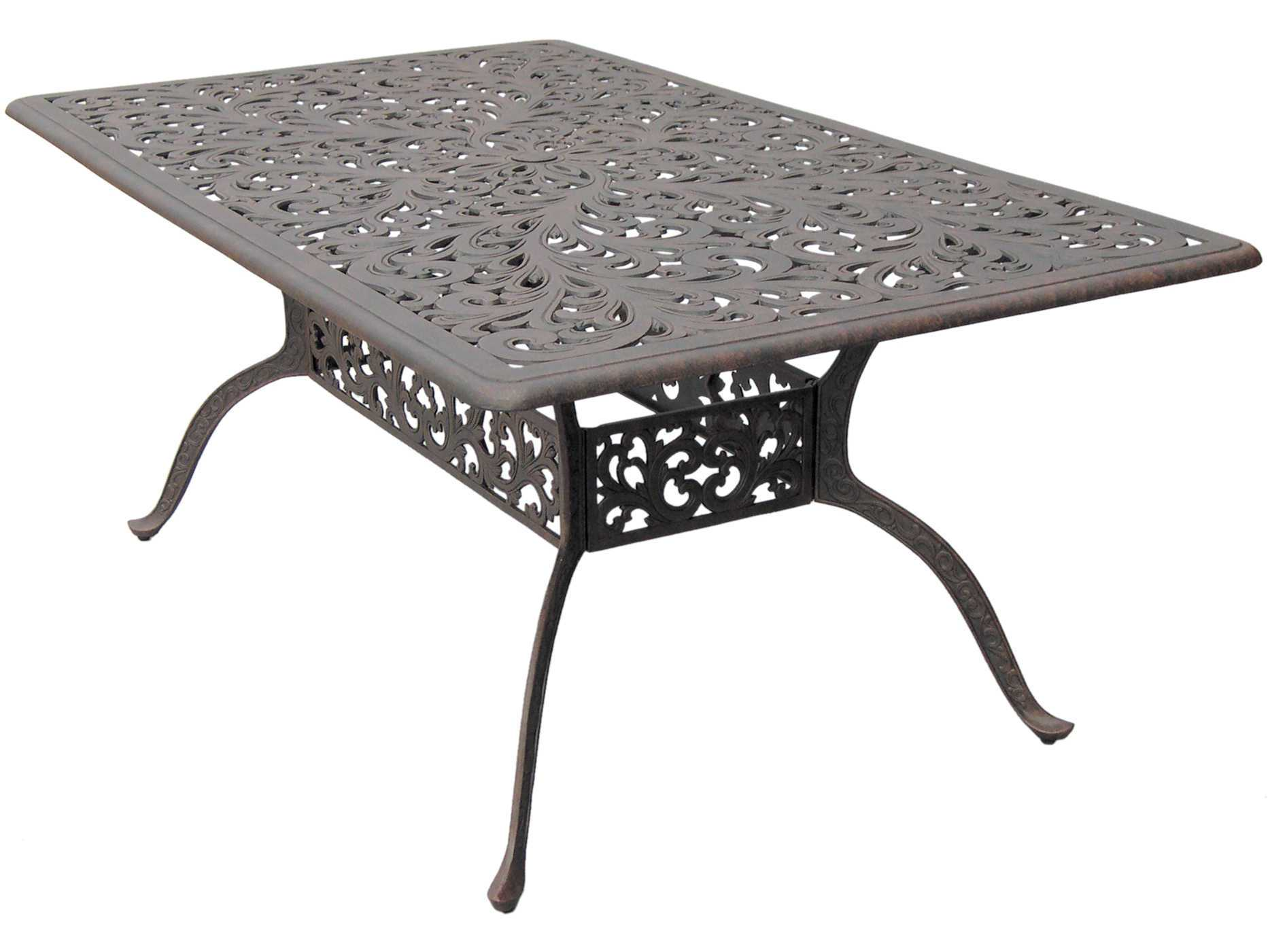 Darlee Outdoor Living Series 80 Cast Aluminum Antique Bronze 72 X 42 Rectangu