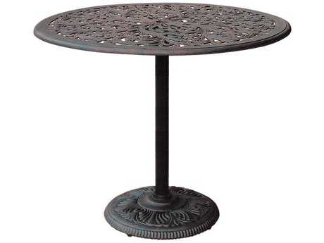 Darlee Outdoor Living Series 80 Cast Aluminum Antique Bronze 42 Round Bar Table