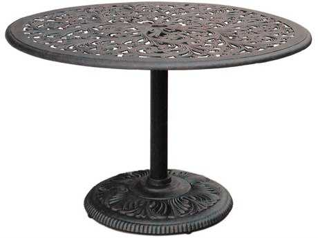 Darlee Outdoor Living Series 80 Cast Aluminum Antique Bronze 42 Round Dining Table PatioLiving