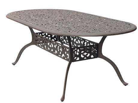 Darlee Outdoor Living Series 80 Cast Aluminum Antique Bronze 84 x 42 Oval Dining Table PatioLiving