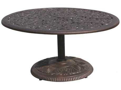 Darlee Outdoor Living Series 80 Cast Aluminum Antique Bronze 42 Round Chat Table DADL80P