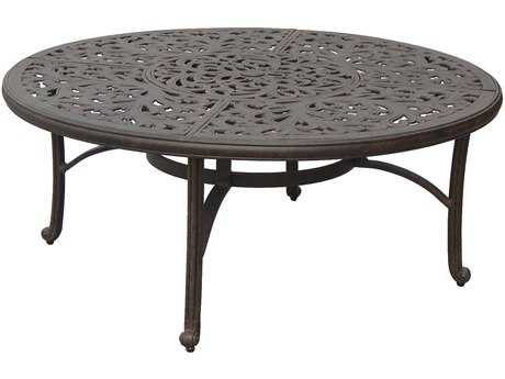 Darlee Outdoor Living Series 80 Cast Aluminum Antique Bronze 52 Round Chat Table with Ice Bucket