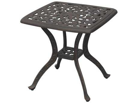 Darlee Outdoor Living Series 80 Cast Aluminum Antique Bronze 21 Square End Table
