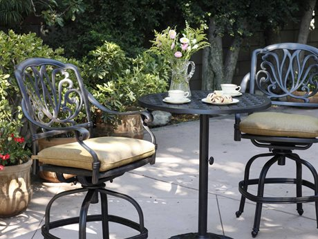 Darlee Outdoor Living Standard Elisabeth Cast Aluminum Counter Height Set