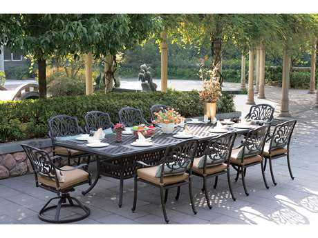Darlee Outdoor Living Elisabeth Cast Aluminum Dining Set