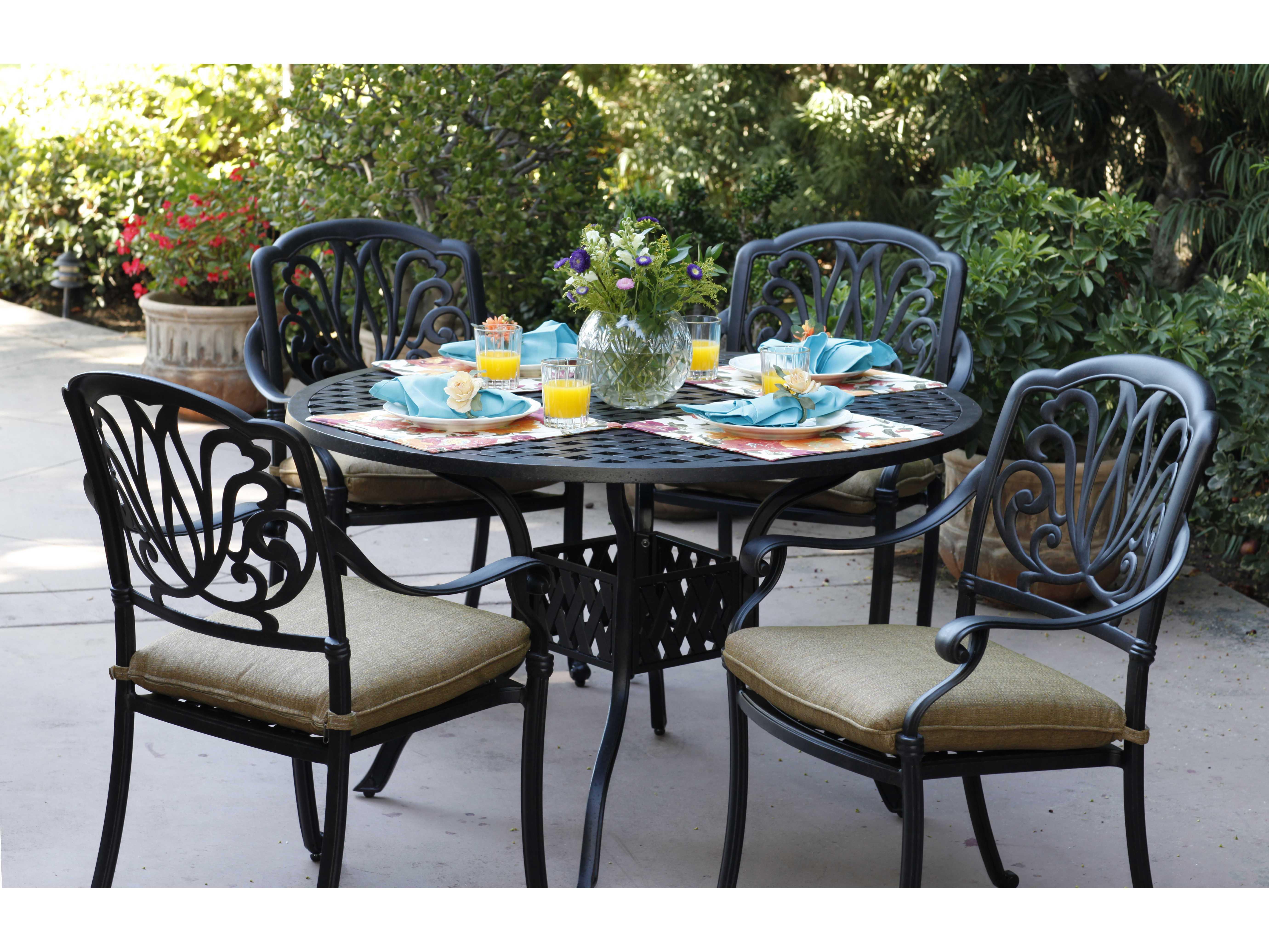 Darlee Outdoor Living Series 30 Cast Aluminum Antique Bronze 48 Round Dining Table Dl30 C