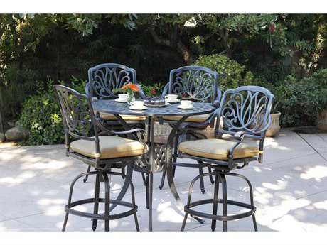 Darlee Outdoor Living Standard Elisabeth Cast Aluminum Bar Height Set