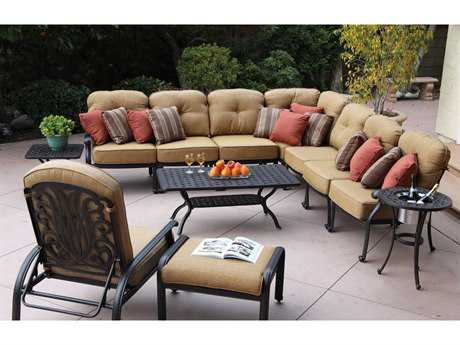 Darlee Outdoor Living Elisabeth Cast Aluminum Lounge Set