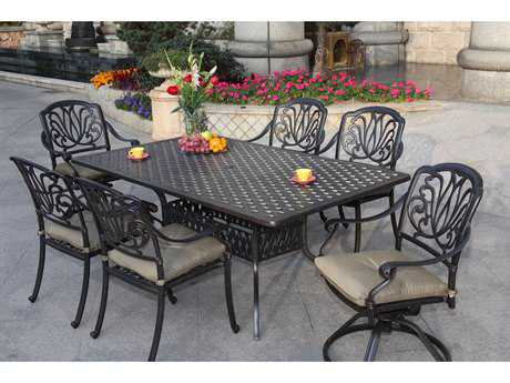 Darlee Outdoor Living Standard Elisabeth Cast Aluminum Dining Set PatioLiving