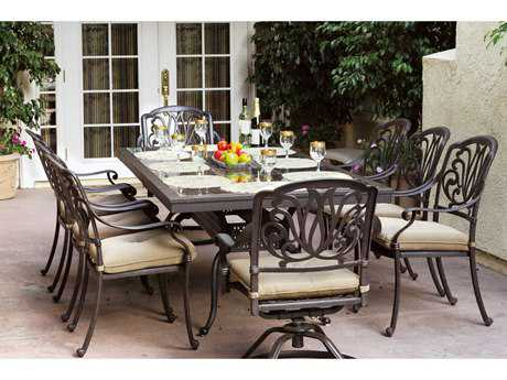 Darlee Outdoor Living Elisabeth Casual Cushion Cast Aluminum Dining Set