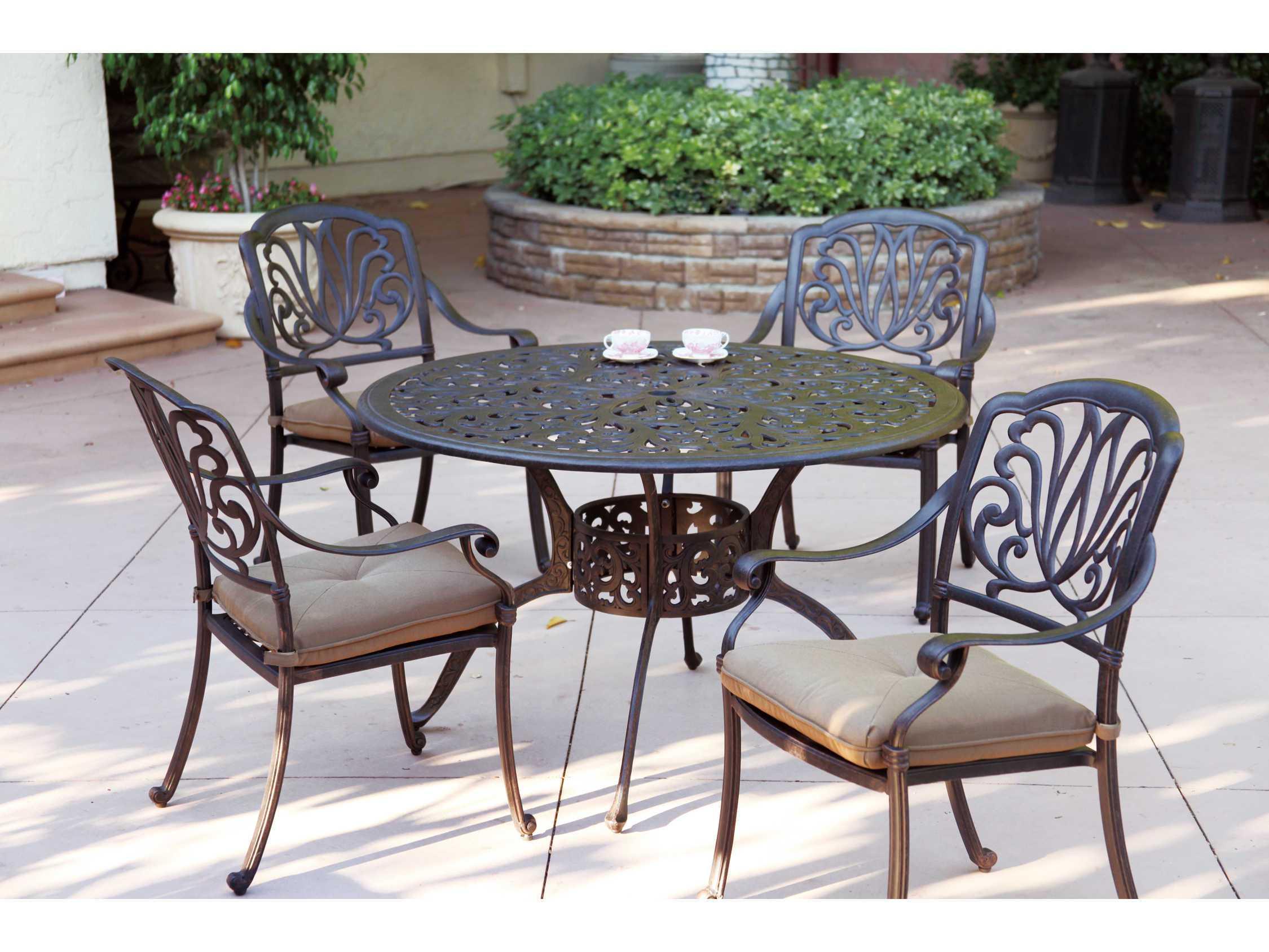 Pleasing Darlee Outdoor Living Series 80 Cast Aluminum Antique Bronze 48 Round Dining Table Home Interior And Landscaping Spoatsignezvosmurscom