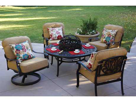 Darlee Outdoor Living Standard Elisabeth Cast Aluminum Lounge Set