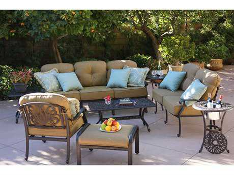 Darlee Outdoor Living Standard Elisabeth Cast Aluminum Lounge Set