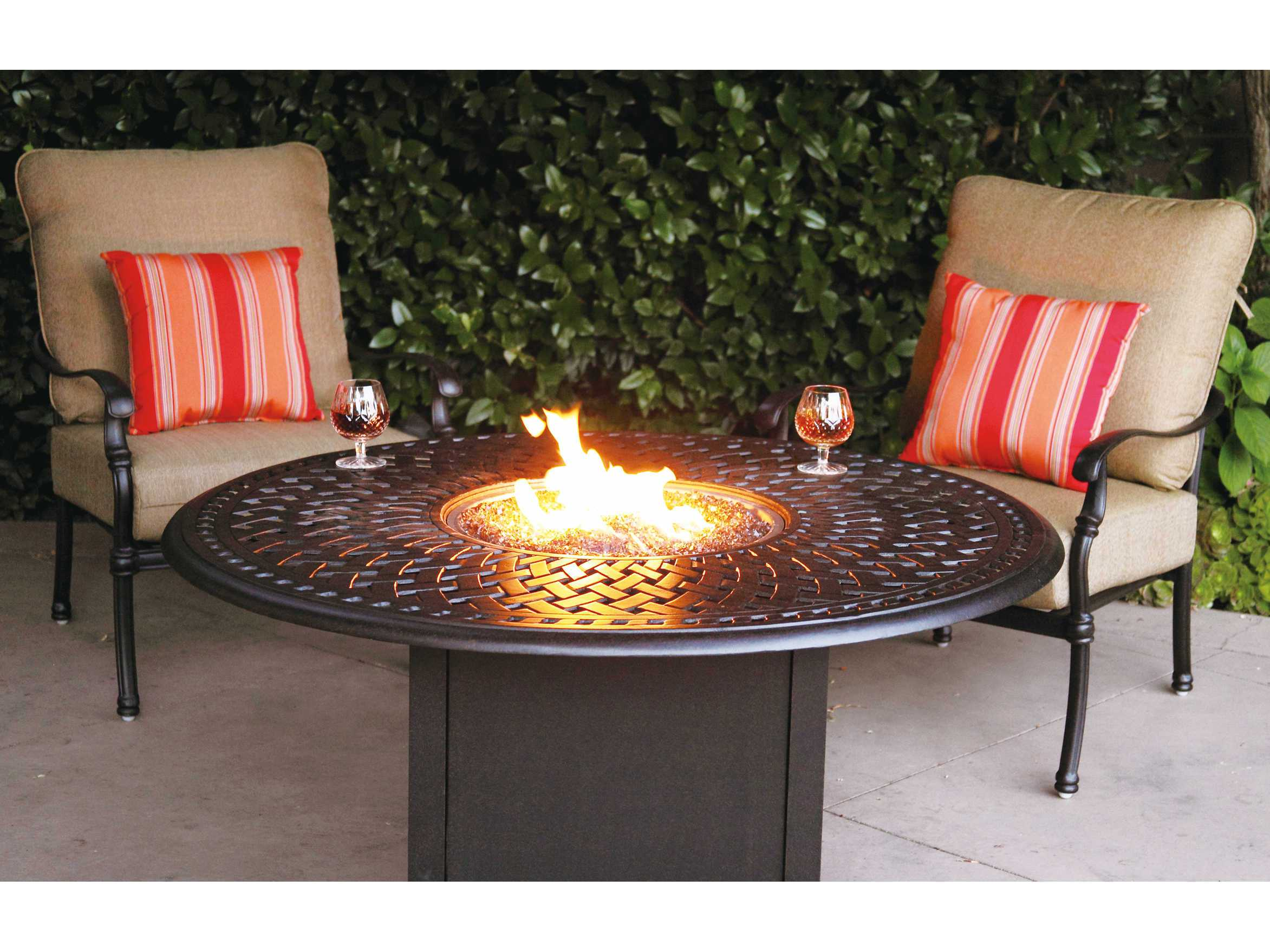 Darlee Outdoor Living Series 60 Cast Aluminum 60 Round Propane