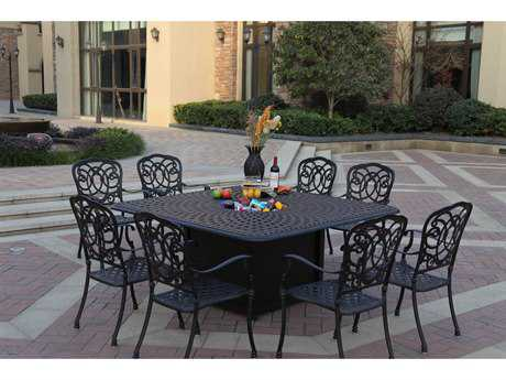 Darlee Outdoor Living Florence Casual Cast Aluminum Dining Set