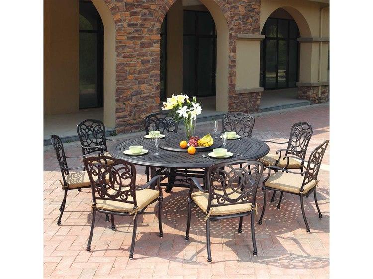 Darlee Outdoor Living Florence Cast Aluminum Dining Set