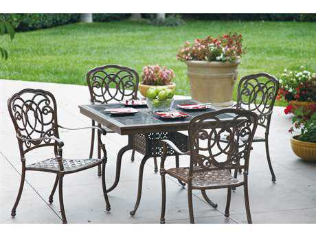 Darlee Outdoor Living Standard Casual Cushion Cast Aluminum Dining Set