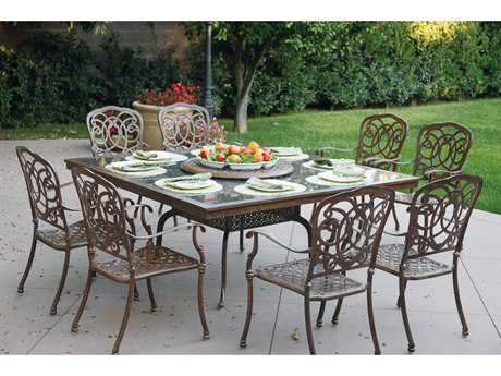 Darlee Outdoor Living Standard Casual Cast Aluminum Dining Set