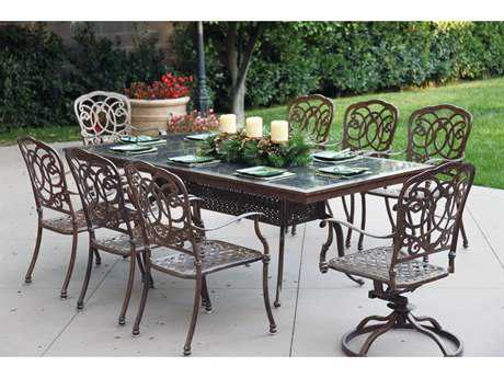 Darlee Outdoor Living Standard Casual Cast Aluminum Cushion Dining Set