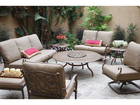 Darlee Outdoor Living Standard Florence Cast Aluminum Lounge Set PatioLiving